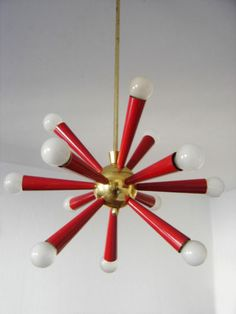 Mid Century Modern ATOMIC Sputnik PENDANT Lamp CHANDELIER Sartatti STILNOVO Era