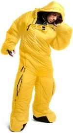 Selk'Suit - sleeping bag sleepware.  I'd wear this all the time.  Well, not in the summer.