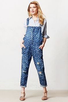 How To Do Overalls Like A Grown-Up #refinery29  http://www.refinery29.com/overalls#slide11  Here's one way to make a statement — print on print.