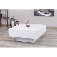 milano white glossy coffee table overstockcom shopping the best deals on coffee - Cb2 Element Couchtisch