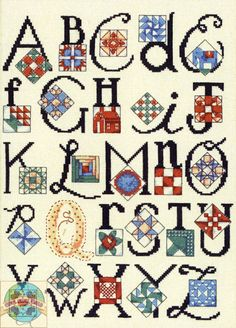 ABC's of quilting in cross stitch