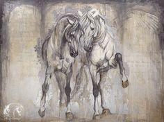 Reproductions giclées sur toile - giclée prints on canvas — Elise Genest Pretty Horses, Horse Love, Beautiful Horses, Painted Horses, Horse Drawings, Animal Drawings, Horse Pictures, Art Pictures, Horse Illustration
