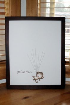 Baby Shower Guestbook-Monkey with Stripes by SayAnythingDesign