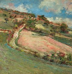 For Sale on - Hillside, Springtime, Giverny, Canvas, Oil Paint by Theodore Robinson. Offered by Questroyal Fine Art. Landscape Art, Landscape Paintings, Theodore Robinson, Famous Art Paintings, Oil Paintings, Park Art, Impressionist Paintings, Oil Painting Reproductions, A4 Poster
