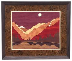 Marquetry Drawing - Fall River Canyon by Lynne Buss Diy Wood Wall, Wooden Wall Art, Wood Art, Intarsia Woodworking, Woodworking Crafts, Intarsia Wood Patterns, Wood Mosaic, Fall River, Wood Veneer
