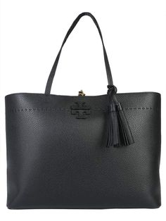 Shop Tory Burch Mcgraw Shopping Bag and save up to EXPRESS international shipping! Philipp Plein Jeans, Black Leather Tote Bag, Zip Hoodie, Emporio Armani, Purses And Handbags, Shopping Bag, Tory Burch, Traveling, Heaven