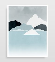 Winter Landscape Wall Art Set of 3 Prints Snow by evesand on Etsy