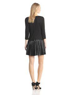 Jessica Simpson Women's Long Sleeve Pleated Drop Contrast Skirt Dress  List Price: $138.00  Buy Now: $93.15