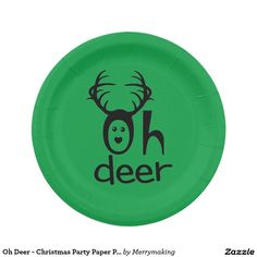 Oh Deer - Christmas Party Paper Plates