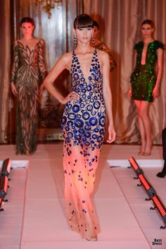Yulia Yanina, like the one on far left Love Fashion, Fashion Art, Fashion Models, High Fashion, Passion For Fashion, Womens Fashion, Fashion Trends, Style Haute Couture, Couture Fashion