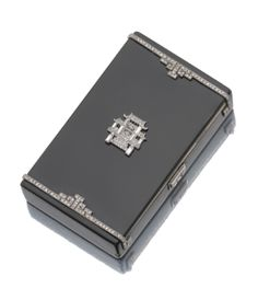 Cartier Art Déco Vanity Case - c. 1925 - Signed Cartier Paris, Londres, New-York, Made in France - Lacquer, gold and Diamond