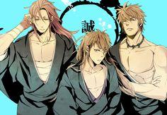Hakuouki Shinsengumi Kitan, Harada Sanosuke (Hakuouki), Toudou Heisuke (Hakuouki), Nagakura Shinpachi (Hakuouki)