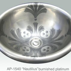 Small Low Profile Vessel Sink   nautilius painted on ap 1540 white small  donna drop in