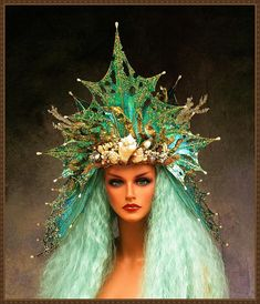 Mermaid CrownFairy WingsRTSIridescent Teals/GoldFREE