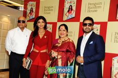 Surendra Shetty, Shilpa Shetty Kundra, Sunanda Shetty & Raj Kundra at the Launch of Shilpa Shetty Kundra's book 'The Great India Diet' at Sahara Star in Mumbai