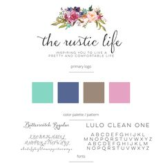 Autumn Lane Paperie - Business Branding - Brand Identity Idea - Brand Board - Brandboard - Graphic Design - Logo Design - Shabby Chic Rustic Design