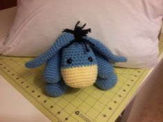 Eeyore Inspired Softie Amigurumi - FREE Crochet Pattern and Tutorial. Adorable!