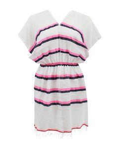 #LEMLEM - Short Sleeve V-Neck Berla Tunic Lemlem, Tunic Designs, Clothing Size Chart, Top Sales, Evening Gowns, Latest Trends, Short Sleeve Dresses, V Neck, Sleeves