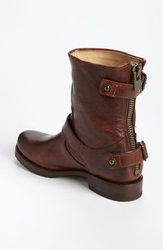 Free shipping and returns on Frye 'Veronica' Back Zip Short Boot at Nordstrom.com. A back zip eases the fit of a boot outfitted with buckled straps for an undeniable utilitarian vibe. The buckled strap at the back has a hidden snap at one side, making it quick to get on and off.