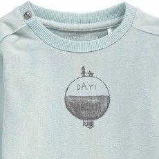 T-Shirt Cotone Bio Giorno Notte Blu. IMPS&ELFS