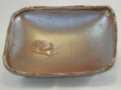 TaoFire Studio candy dish with shell imprint top view