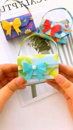Cool Paper Crafts, Paper Crafts Origami, Diy Origami, Cute Crafts, Diy Paper, Diy And Crafts, 5 Minute Crafts Videos, Diy Videos, Happy Birthday Drawings