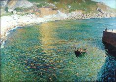 Dame Laura Knight (British, Impressionism, 1877-1970): Lamorna Cove, c. 1919