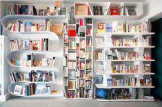 Fun home library.