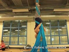 Aerial Silks - How to Fairy from a swing - YouTube