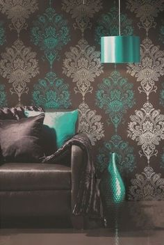 Teal and gray.. Love this colour combination