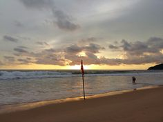 19.05.16  In the end. Sunset at karon beach Phuket Thailand.