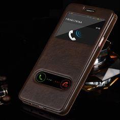 For Samsung galaxy J1 J3 J5 J7 2016 Luxury Smart Front Window View Leather Flip Case For samsung galaxy j5 2016 case Coque Cover -- Encontrar más información haciendo clic en la imagen