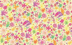 Paper Squid ❤: June's Golden Floral Desktop Wallpaper