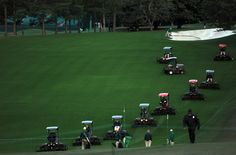 Final preparations at Augusta National Golf Club for the 2012 Masters Tournament   Masters