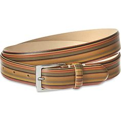 PAUL SMITH LONDON - Leather vintage striped belt | selfridges.com