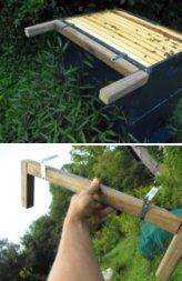 "DIY Inspection  ""frame perch"" 2 L brackets & 3 peices of scrap wood....."