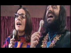 YouTube: Demis Roussos & Nana Mouskouri banter in English then sing To Gelakaki in Greek. 1974