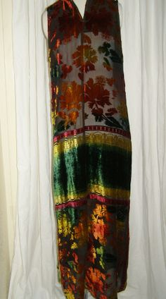 Long Maxi Sweet deco  floralombre colored HIppy BOHO  by VtgReruns
