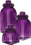 Purple Glass Jar Set | Kitchen Canister Sets
