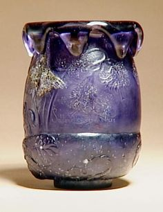 E.GALLÉ__ Nancy, (1846-1904), Blown, Internal Inclusions, Applied and Engraved Glass Vase.