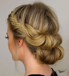 Wedding Hairstyle For Long Hair : Headband Hair Tuck With A Bun Free tutorial with pictures on how to style a Wedding Hairstyles For Medium Hair, Bride Hairstyles, Headband Hairstyles, Bridesmaid Hairstyles, Hairstyle Ideas, Hairdos, Summer Hairstyles, Trendy Hairstyles, Medium Hair Updo