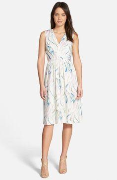 a7581d18efe68 Nordstrom Collection Print V-Neck Silk Faux Wrap Dress