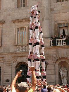 Castells Plaça Sant Jaume Barcelona