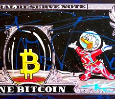 Urban satirical art on money by Moabit, a contemporary street artist who paints about current events and pop culture. Hand painted on a high-quality commercial print. 100 x 42 cm. Get this work on Etsy before it sells out! Cartoon Memes, Cartoon Art, Graffiti Drawing, Graffiti Painting, Galaxy Drawings, Uncle Scrooge, Scrooge Mcduck, Disney Fanatic, Dope Art
