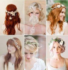 Las flores naturales son los mejores accesorios de una novia fresca y romántica. Hoy les mostramos 6 estilos de tiaras hechas con diferentes flores, no son divinas?!?!