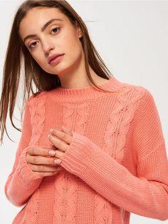 SINSAY / Sweter z wyraźnym splotem