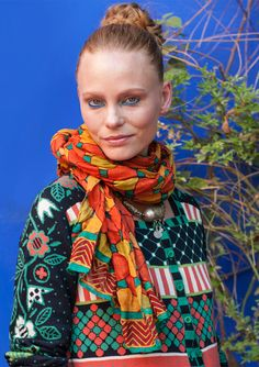 """""""Mosaik"""" shawl – Accessories – GUDRUN SJÖDÉN – Webshop, mail order and boutiques 