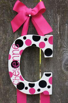 Custom Name Initial Bow Holder by faithnbugsboutique on Etsy