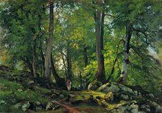 Beech Forest in Switzerland - Ivan Shishkin, 1863