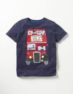 T-Shirt mit britischen Motiven Boden